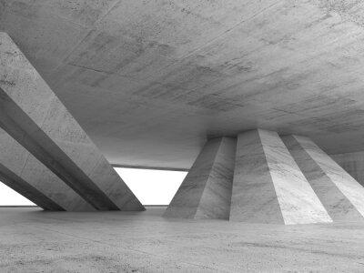 Nálepka Abstract empty concrete interior 3d render