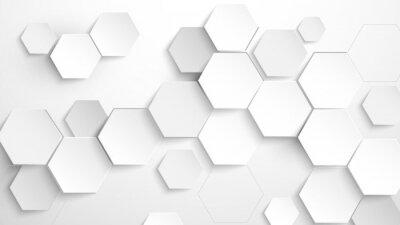 Nálepka Abstract white hexagon background. Vector Illustration