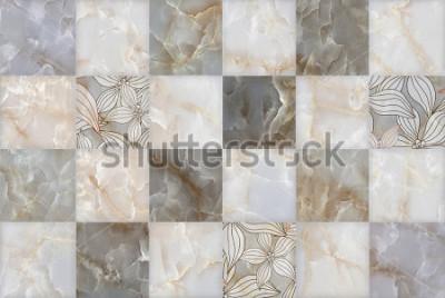 Nálepka Abstractní mramorové kamenné bloky vzor
