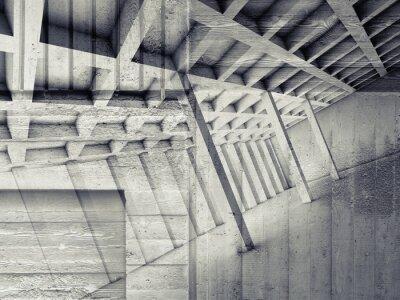 Nálepka Abstrakt interiér s prázdné místnosti a betonu