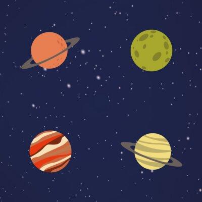 Nálepka Abstrakt Kreslený planety
