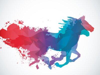 Nálepka Abstrakt kůň