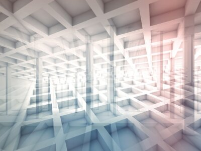 Nálepka Abstrakt protíná buněčných struktur, 3d ilustrační