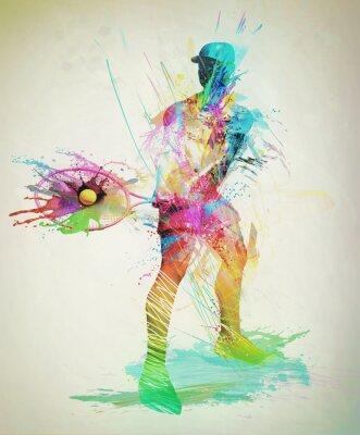 Nálepka Abstrakt tenista