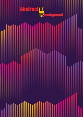Nálepka Abstraktní barevné hudební illustration. Eps10 vektorové ilustrace