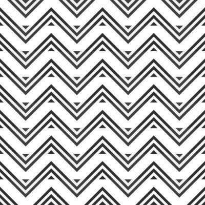 Nálepka Abstraktní bezproblémové vzorek šedé klikatě na bílém pozadí