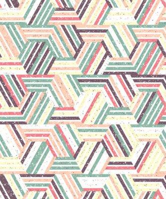 Nálepka Abstraktní bezproblémové vzorek z více trojúhelníků a pruhy. Texturou.