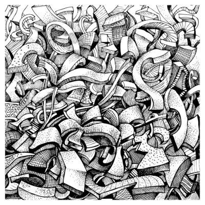 Nálepka Abstraktní čmáranice