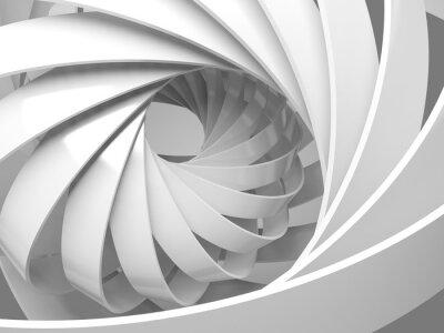 Nálepka Abstraktní digitální pozadí s 3d spirální strukturou