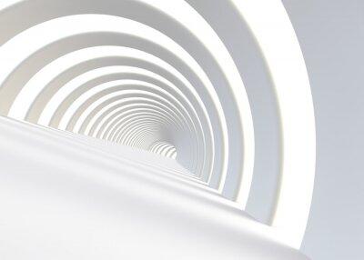 Nálepka Abstraktní futuristické tunel v moderním stylu