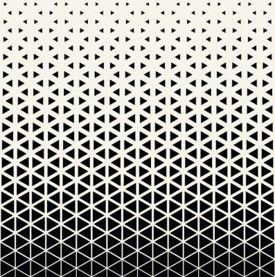 Nálepka Abstraktní geometrické černobílý grafický design pro tisk půltón trojúhelník vzor
