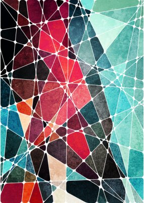 Nálepka abstraktní geometrické grunge pozadí