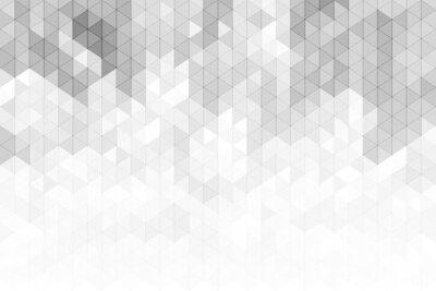 Nálepka Abstraktní geometrické pozadí se šedými a bílými tvary tvarů trojúhelníku.