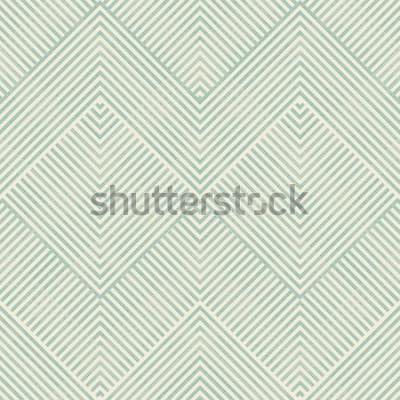 Nálepka Abstraktní geometrický vzor bezešvé v tyrkysové a béžové na textury pozadí. Nekonečné vzor lze použít pro keramické dlaždice, tapety, linoleum, textil, pozadí webové stránky.