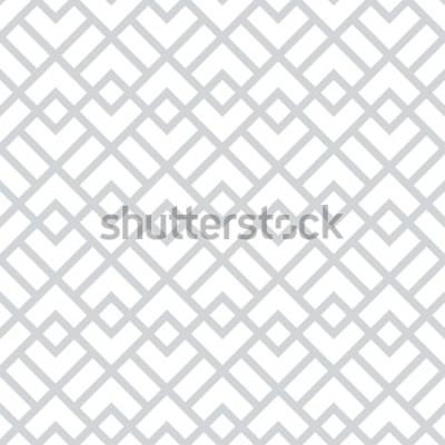 Nálepka Abstraktní geometrický vzor s čtverečky, kosočtverce. Bezešvá vektorová pozadí. Šedý a bílý grafický vzor.