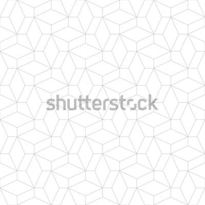 Nálepka Abstraktní geometrický vzor s křížení tenkých čar. Stylová textura v šedé barvě. Bezešvé lineární vzor.
