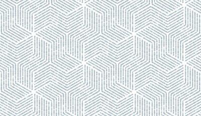 Nálepka Abstraktní geometrický vzor s pruhy, čáry. Bezešvá vektorová pozadí. Bílá a modrá ozdoba. Jednoduchý mřížkový grafický design