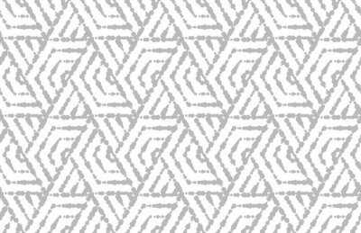 Nálepka Abstraktní geometrický vzor s pruhy, čáry. Bezešvé vektorové pozadí. Bílý a šedý ornament. Jednoduchý grafický design mřížky.