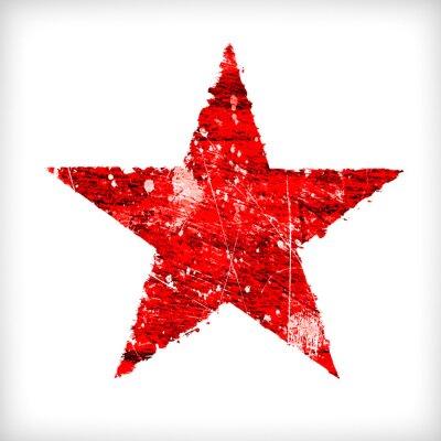 Nálepka Abstraktní hvězda na bílém pozadí