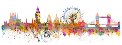 Nálepka Abstraktní ilustrace londýnské panorama