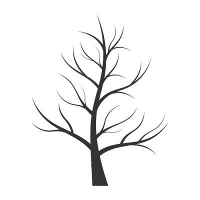Nálepka Abstraktní ilustrace - silueta stromu