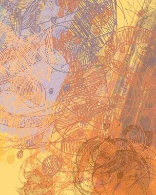 Nálepka Abstraktní malba na plátně. Ručně vyrobené umění. Barevné textura. Moderní umělecká díla. Tahy tukové barvy. Brushstrokes. Soudobé umění. Umělecký obrázek na pozadí.