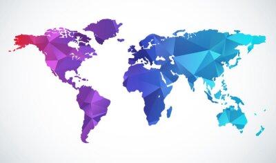 Nálepka Abstraktní mapa světa