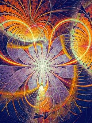 Nálepka Abstraktní počítačem generovaný obraz pruhované květ