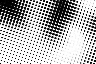 Nálepka Abstraktní pozadí s černými tečkami.