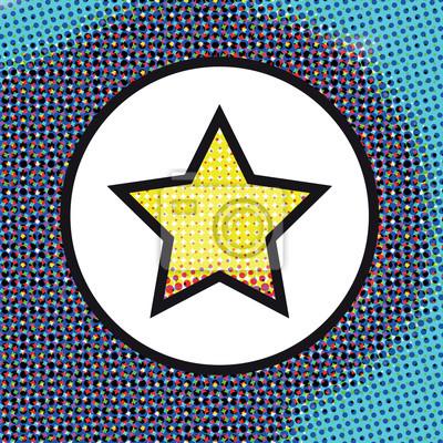 Abstraktní pozadí s hvězdou na kružnici