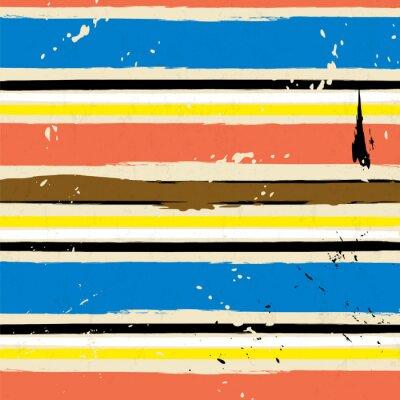 Nálepka abstraktní pozadí s tahy a barevnosti, proužek vzor,