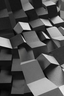 Nálepka Abstraktní složení papírových pruhů, geometrické pozadí