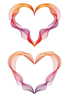 Nálepka abstraktní stuha srdce, vektor