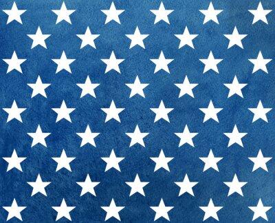 Nálepka Abstraktní tmavě modré akvarel vzor s bílými hvězdami.