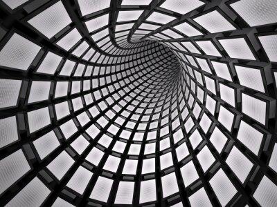 Nálepka Abstraktní tunel, 3D