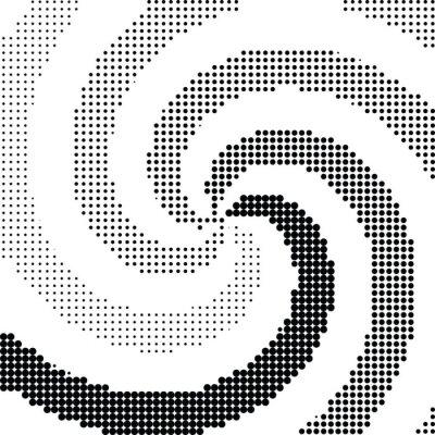 Nálepka Abstraktní vír půltón dot vektor