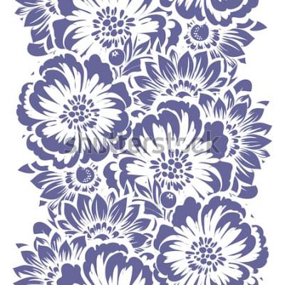 Nálepka Abstraktní vzor bezešvé elegance s květinovým pozadím