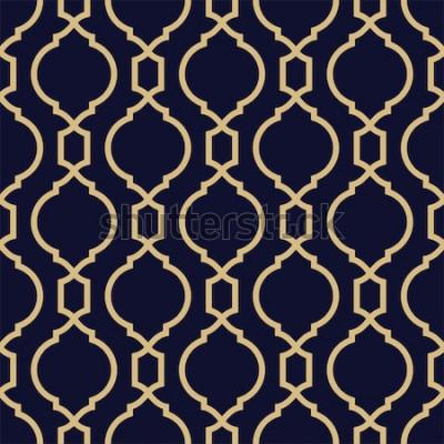 Nálepka Abstraktní vzor v arabském stylu. Bezešvé geometrické vektorové pozadí.