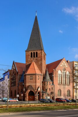 Nálepka Adventní kostel v Berlíně Bötzowviertel