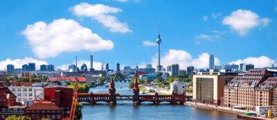 Nálepka aerial photo berlin skyline