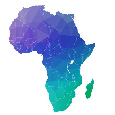 Nálepka Africa in the color triangle. Raster 4