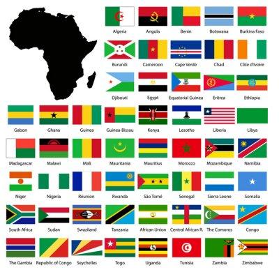 Nálepka African flags