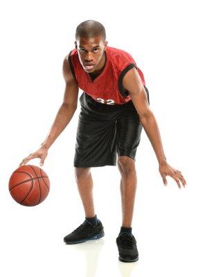 Nálepka Africký americký basketbalový hráč