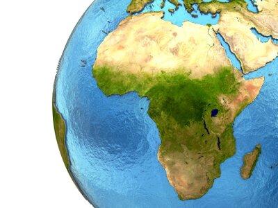 Nálepka Africký kontinent na Zemi