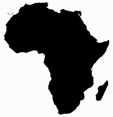 Nálepka Afrika Mapa