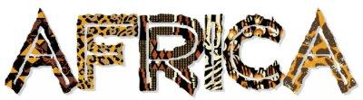 Nálepka Afrika patchwork s tkaniny a kůže textury