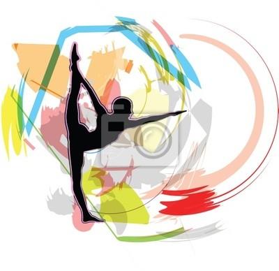 Akrobatické dívka