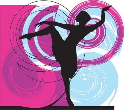 Akrobatické dívka ilustrace