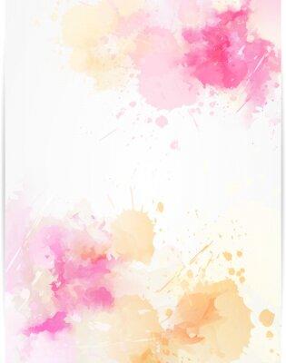 Nálepka Akvarel abstraktní pozadí s postříkaly barvy.
