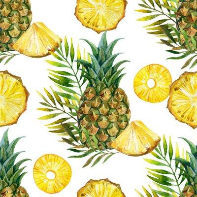 Nálepka akvarel ananas bezešvé vzor